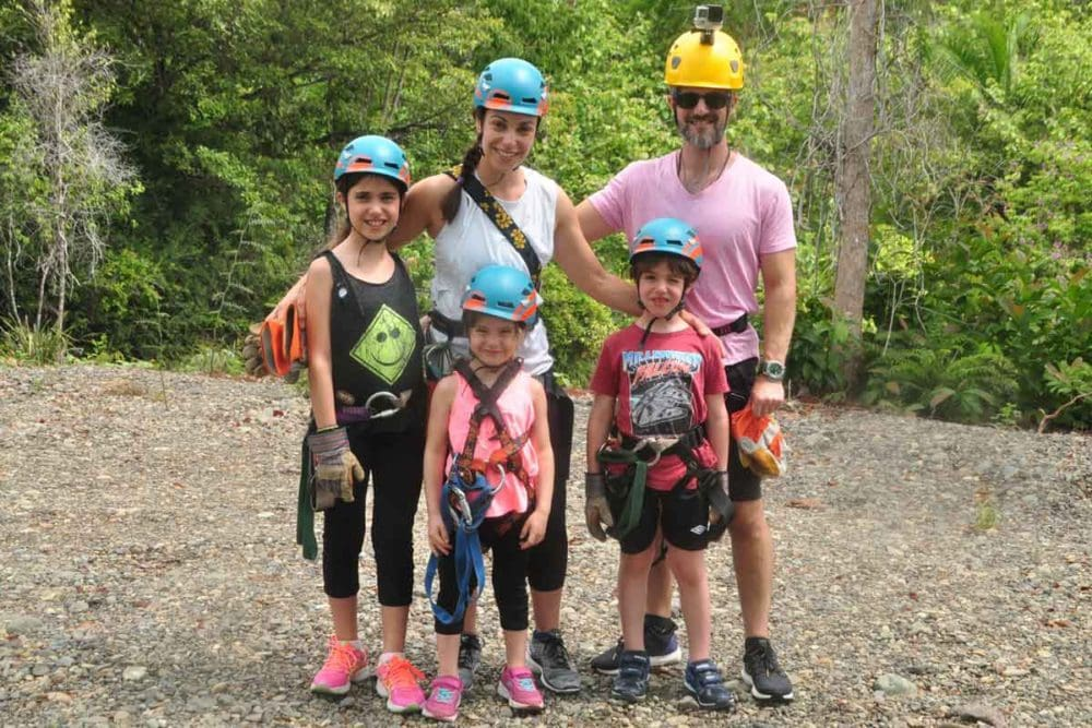 Erin Norris and family preparing to brave the zip line.