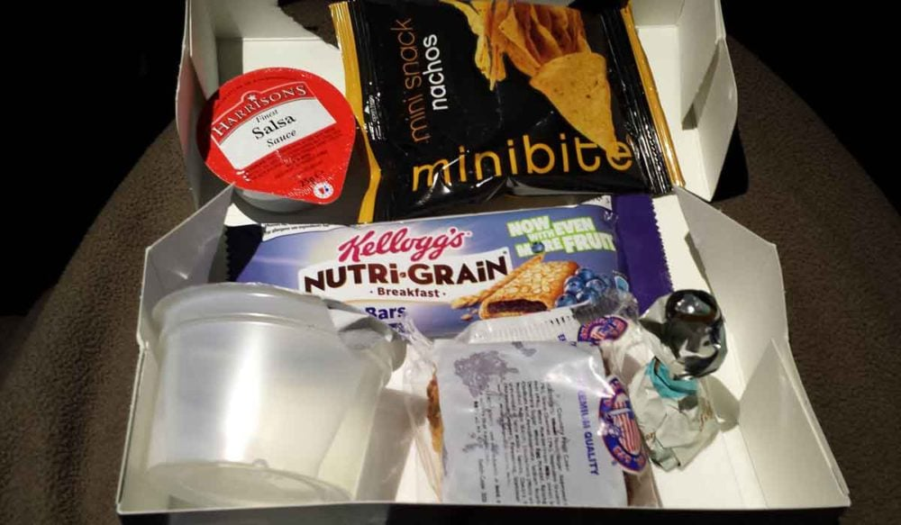 Save money when flying with your own snack box.
