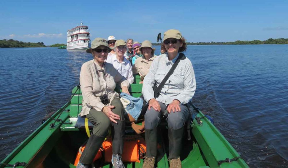 Amazon and Pantanal adventure, setting out from the river boat.