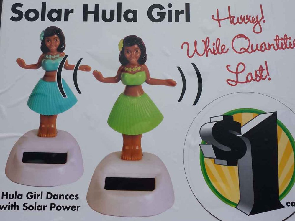 Saving money on travel by not buying hula girl trinkets.