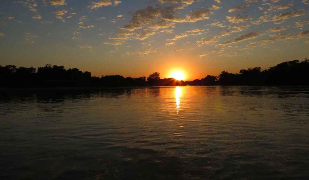 Sunset on the Amazon and Pantanal adventure.