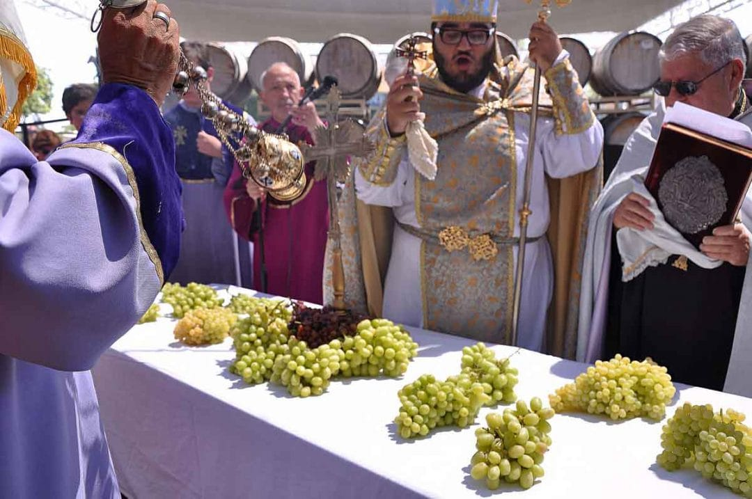 The blessing of the grapes.