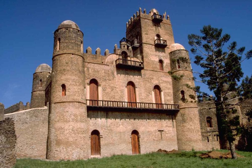 Castle at Gondar in Ethiopia.