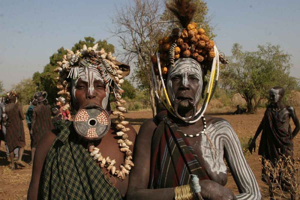 Mursi women of Ethiopia