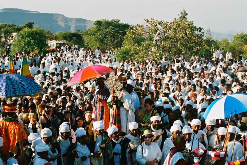 Ethiopian Orthodox Christmas ceremony.