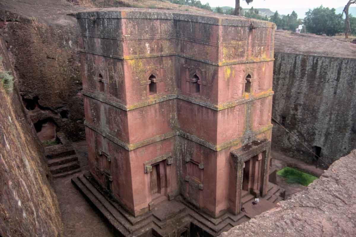 Stone church in Ethiopia