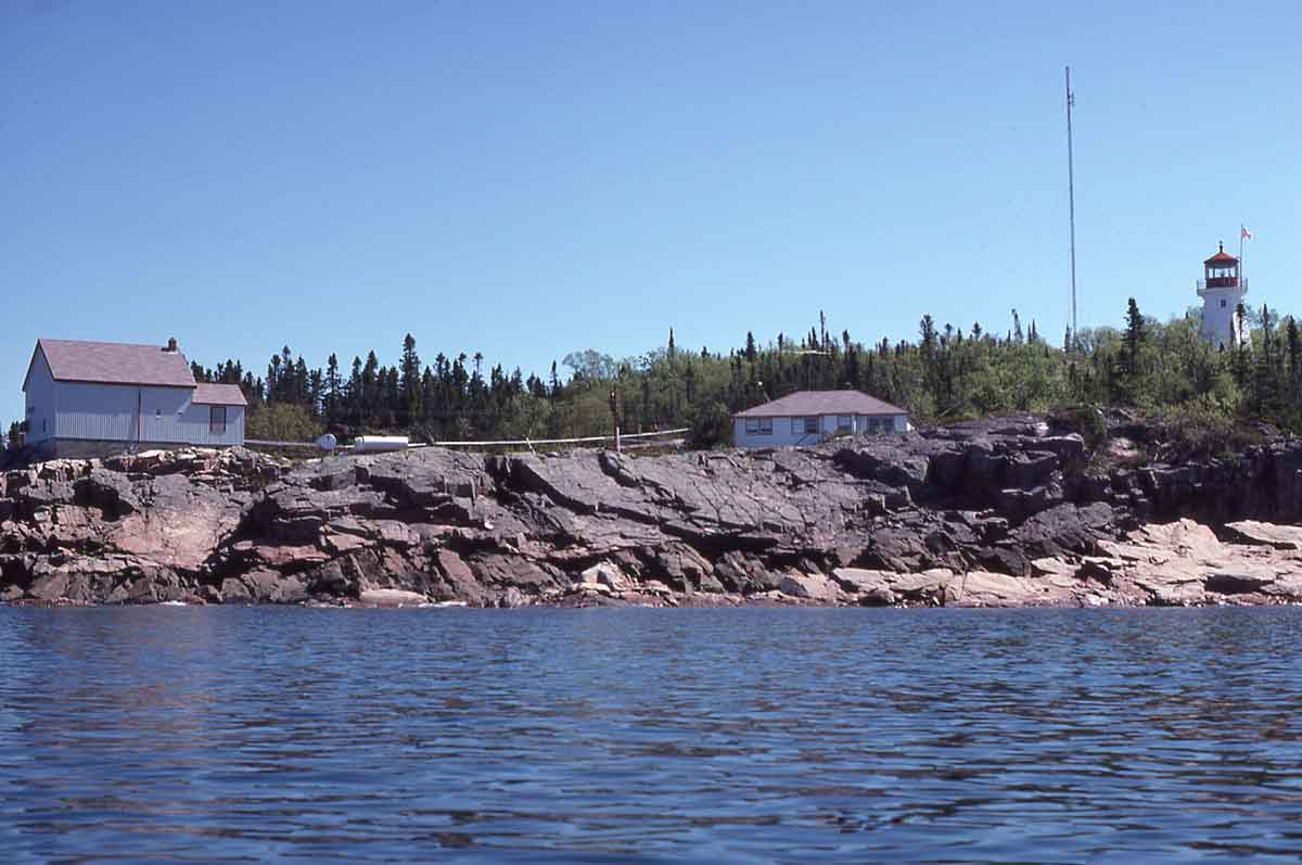 The Otter Island Lighthouse, built in 1903, sits on the northwest tip of the island.