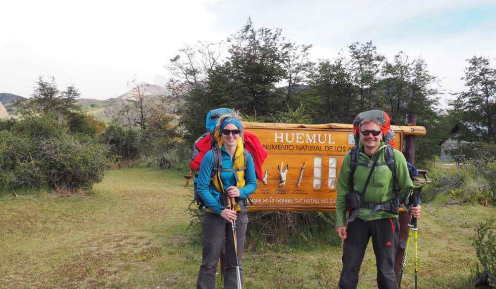 The trek begins - Huemul.