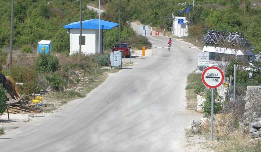Border crossing between Bosnia and Croatia.