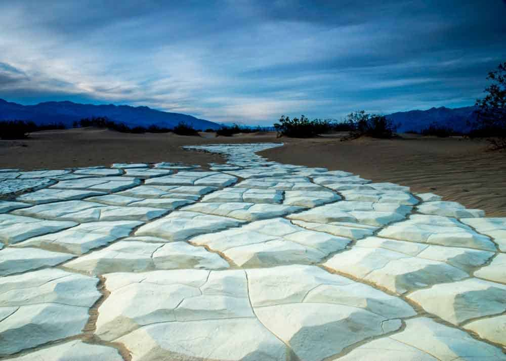 Death Valley mud flat amazing landscape photo
