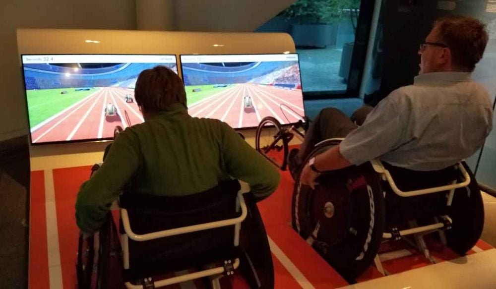 Racing wheelchairs at Ottoblock Museum during Long Night of Museums.