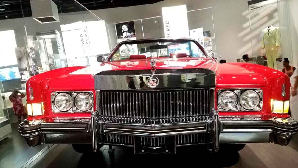 Chuck Berry's convertible in the African American Museum