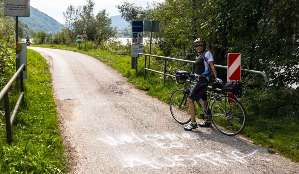 Crossing country borders on bike tours.