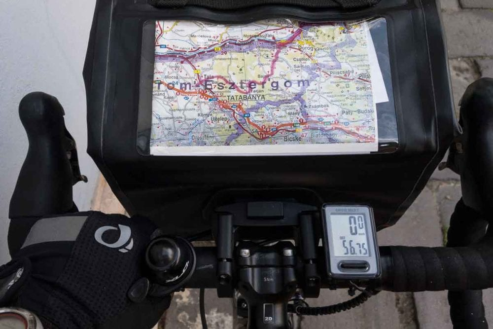 Having a map is important on any bike tour.