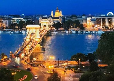 Chain Bridge Night Budapest