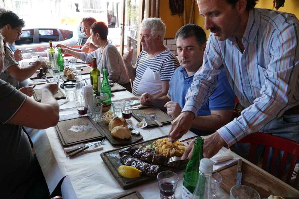 Parrilla Food Tour features lots of meat.