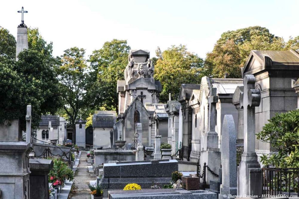 Montmartre cemetery is a must see in Paris.