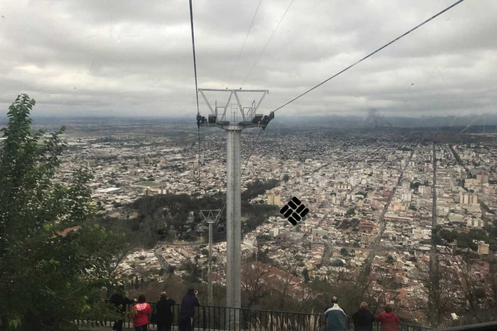 The cable car up the mountain in Salta.