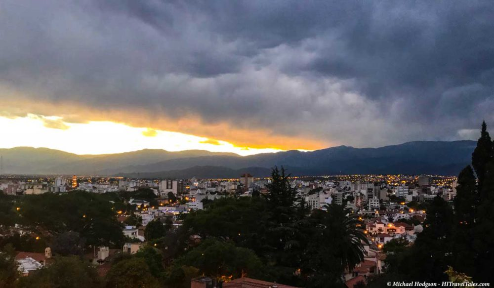 City of Salta at sunset.