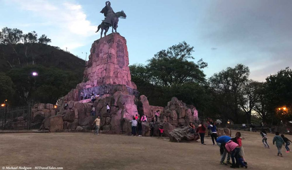 General's monument at night is beautiful in Salta.