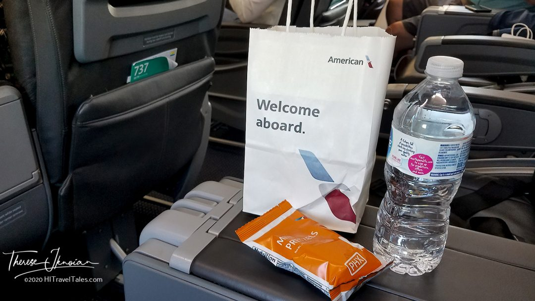 American Airlines Snack Bag