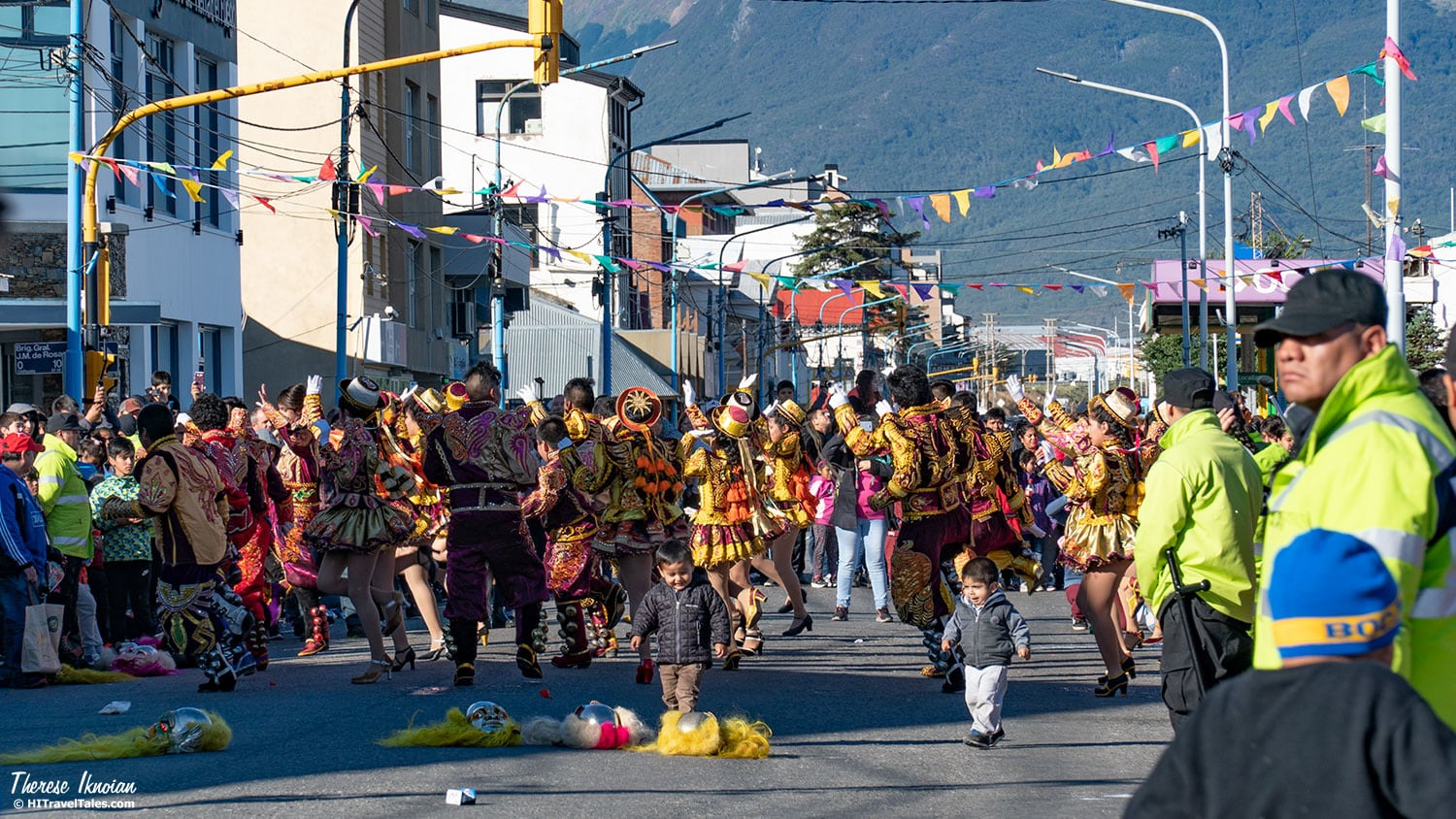 The parade takes over the main thoroughfare of Ushuaia, then ends in the oceanside park and parking lots for continued partying.