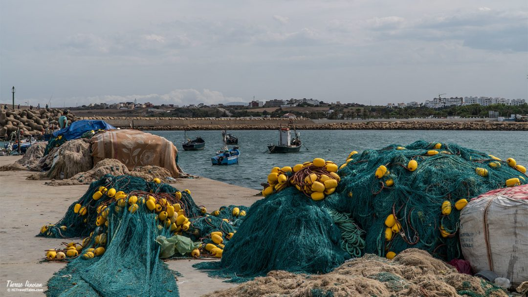 Asilah Morocco Harbor Fishing Nets