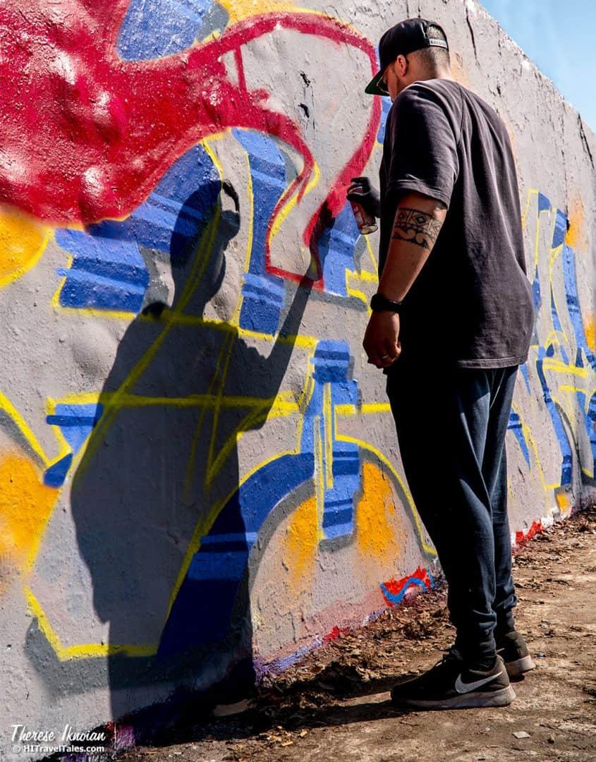 BER Mauerpark Shadow Streeet Art