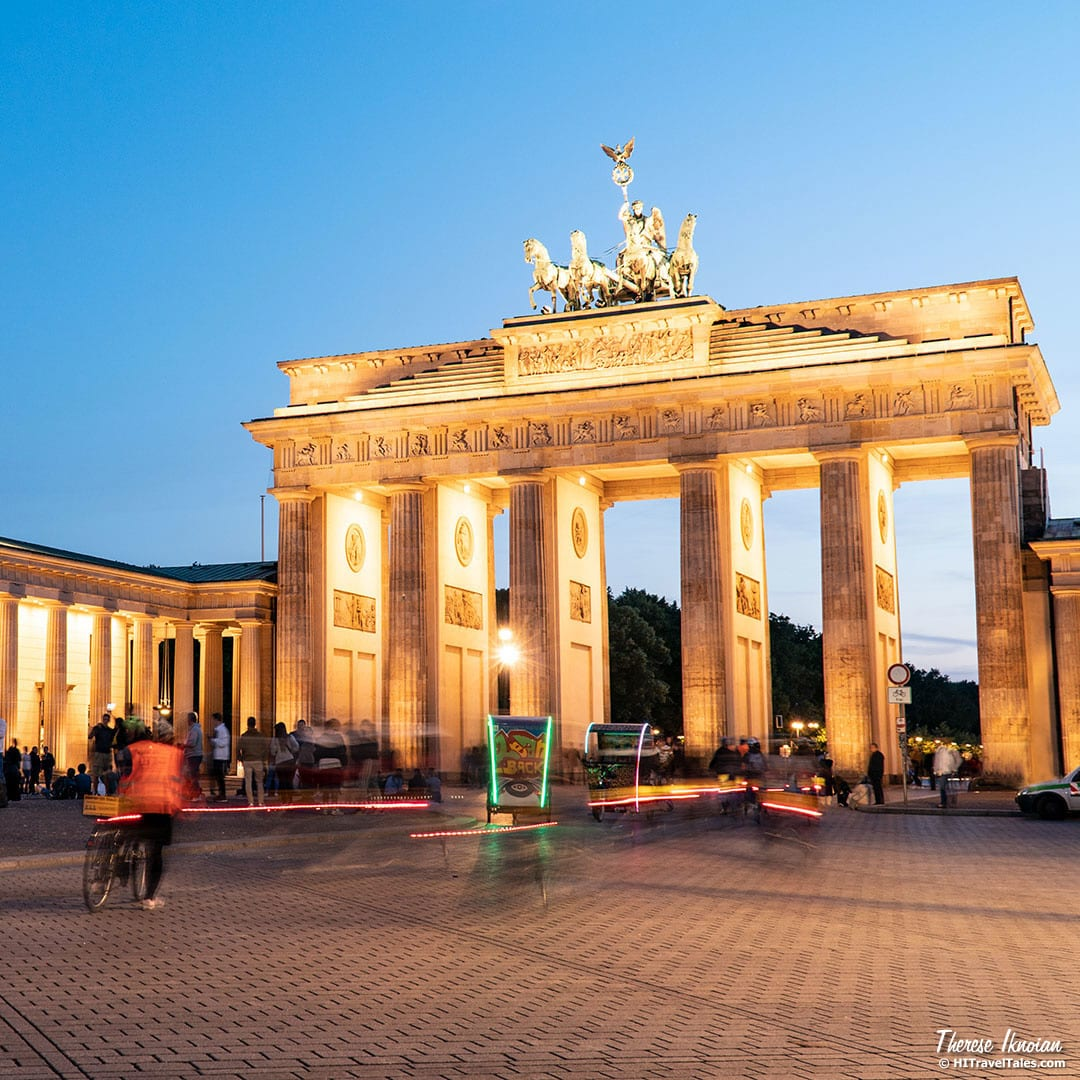 Berlin Instagram Photos of Brandenburg Gate with bikes and tourists