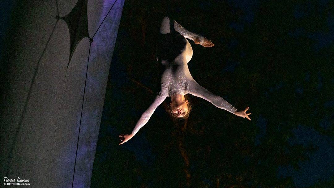 Botanical Nights Aerial Acrobatics Arco Show
