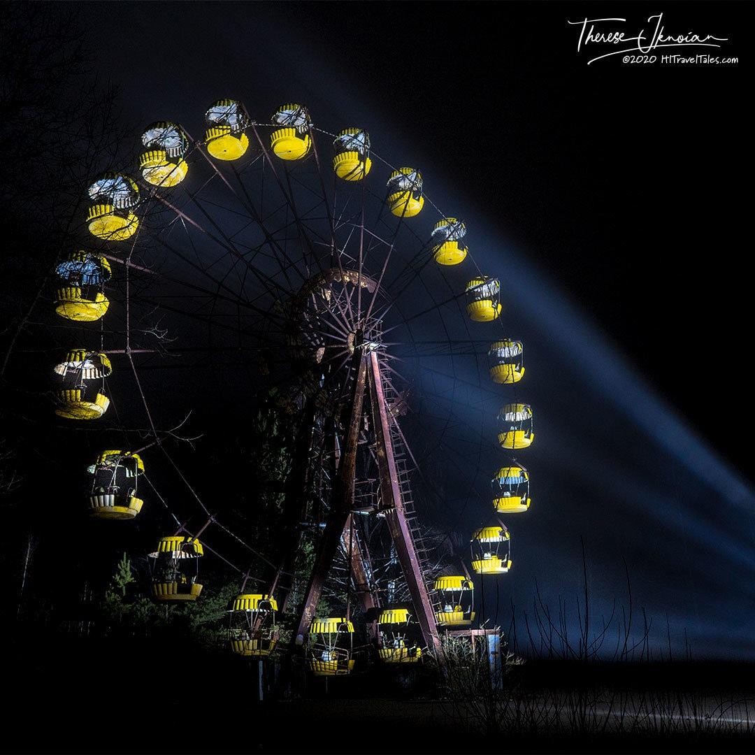 Chernobyl Ferris Wheel Light Paint