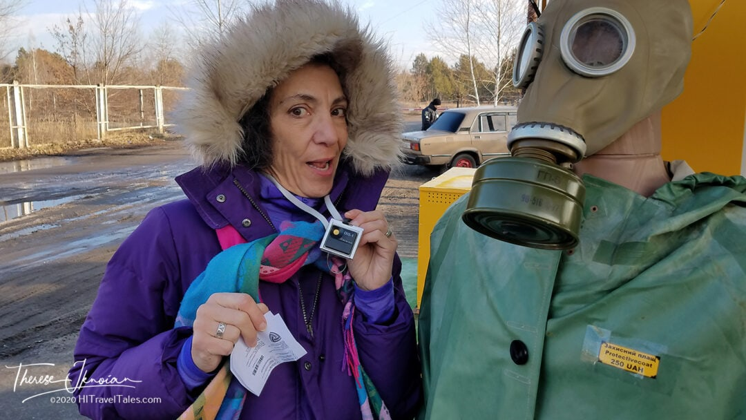 Chernobyl Entry Checkpoint Therese Dosimeter