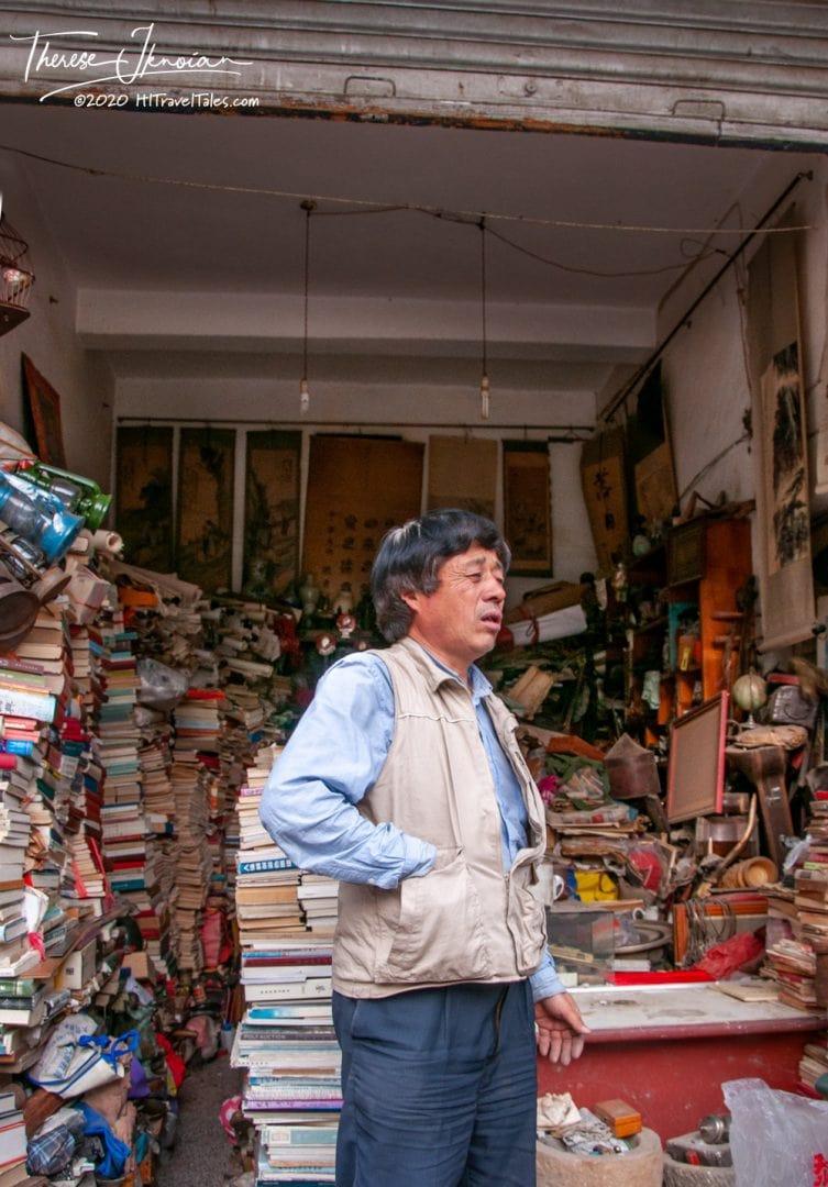 Kunming China Vendor in Bookshop