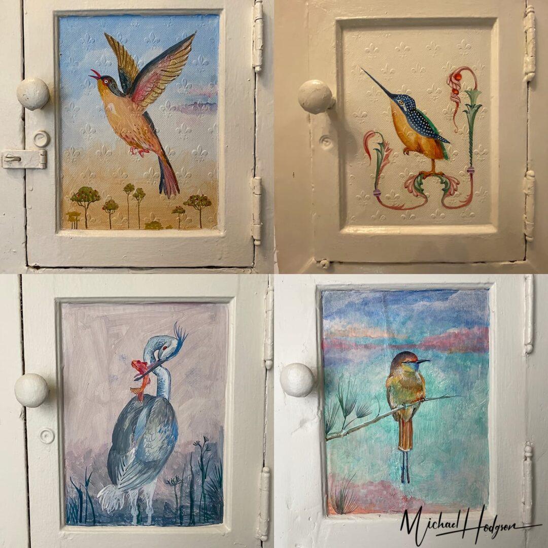 Cornell Hotel De France Door Paintings