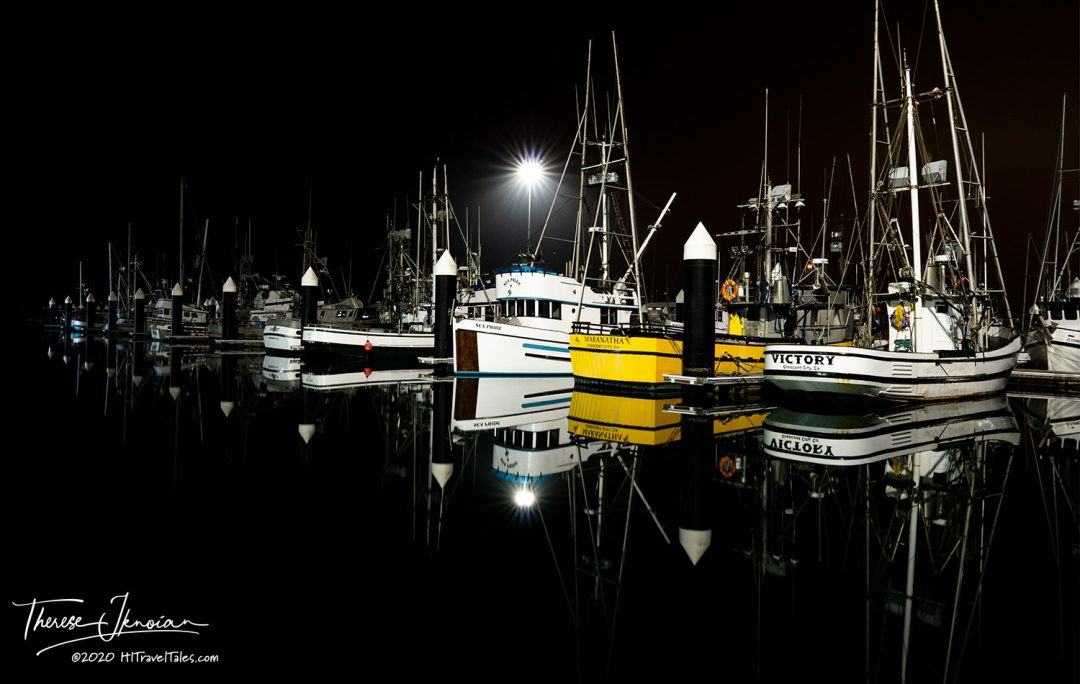 Crescent City Harbor Reflection