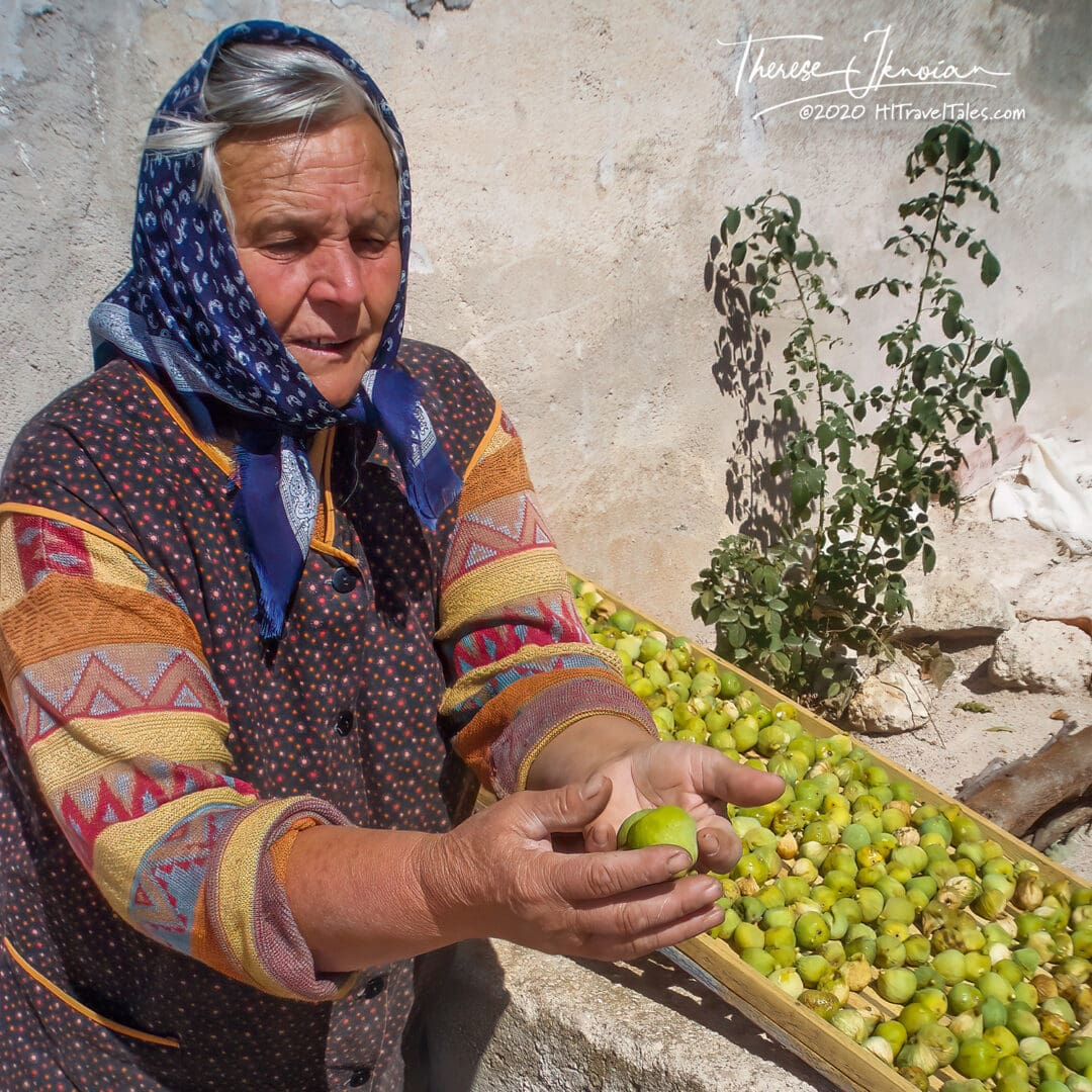 Croatia Lady Selling Figs