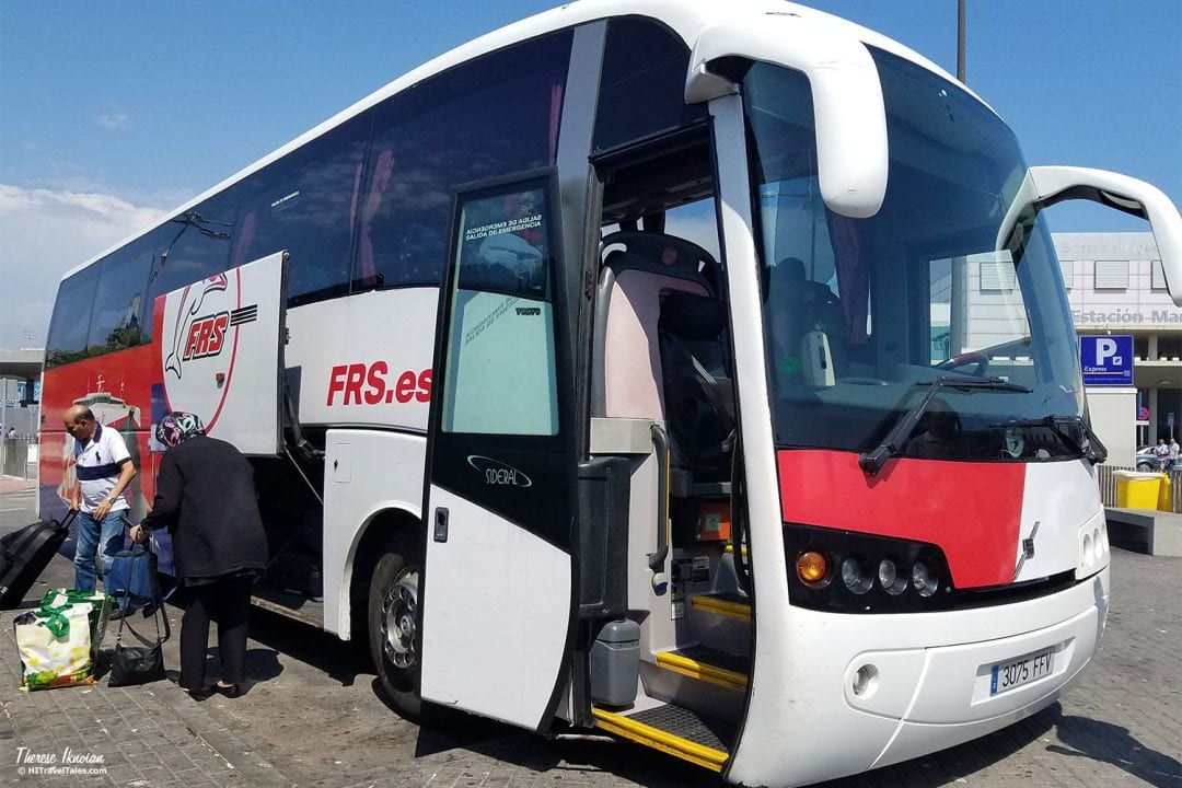 FRS Ferry Bus To Tarifa To Morocco