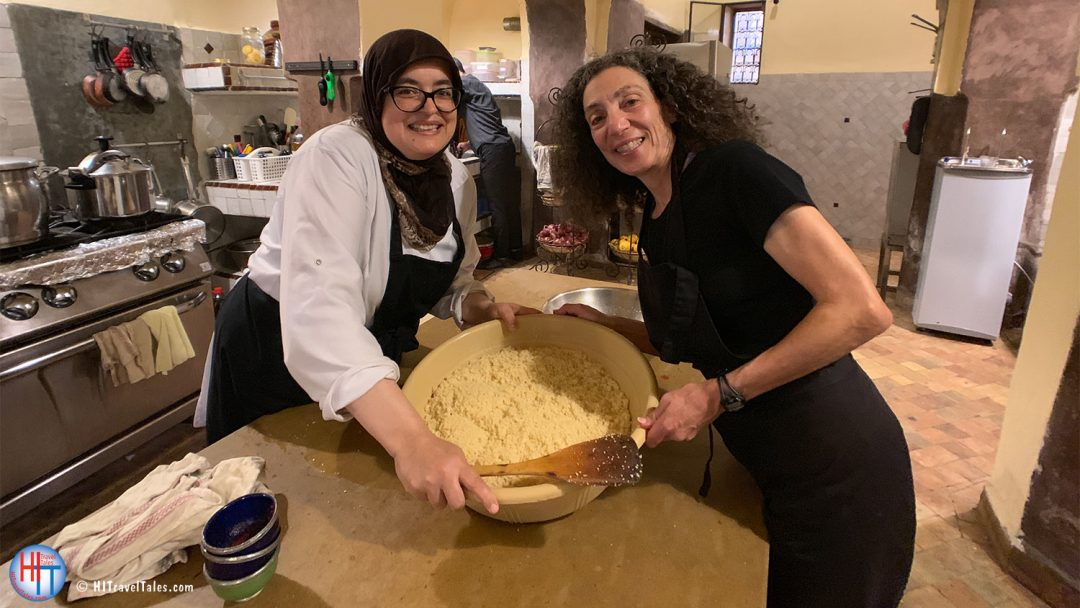 Fatima And Therese With Couscous Riad Laaroussa
