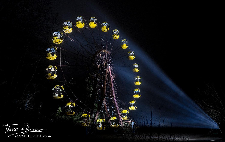 Ferris Wheel Chernobyl Night