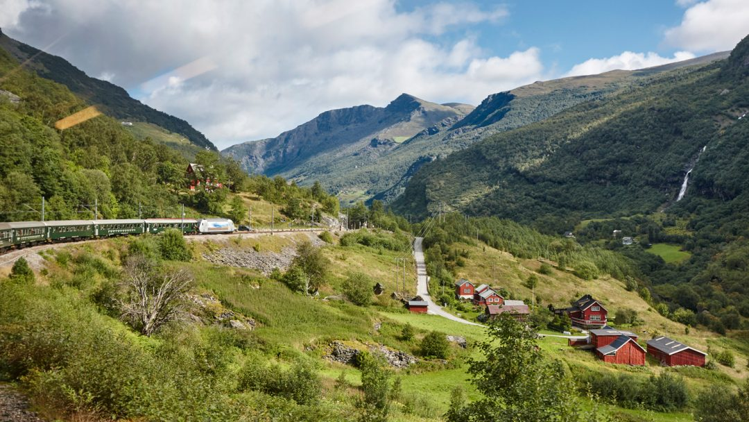 Flam Railway Landscape. Norwegian in a Nutshell DIY