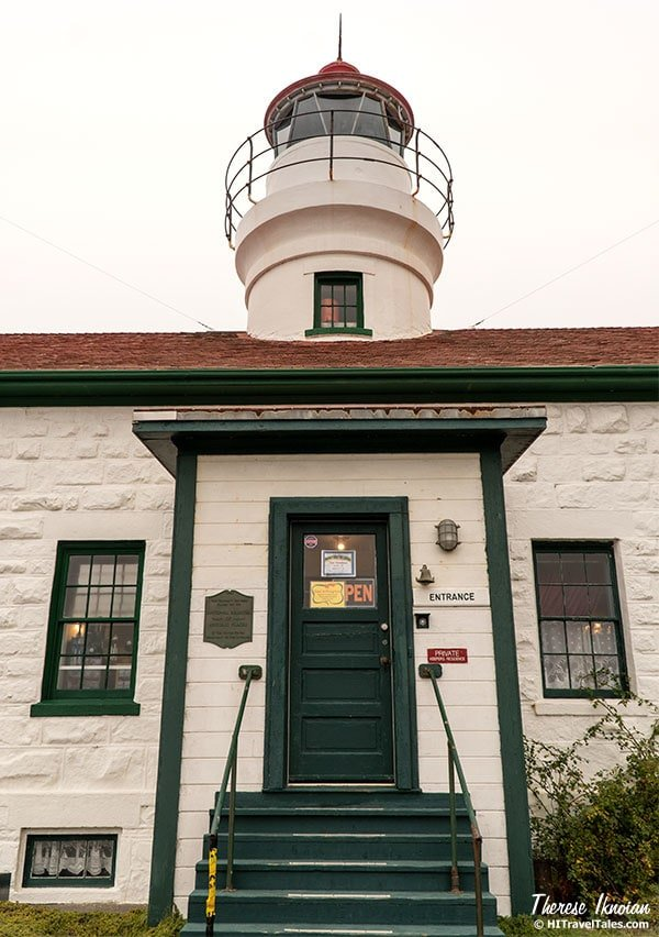 Front of the Battery Point Lighthouse.