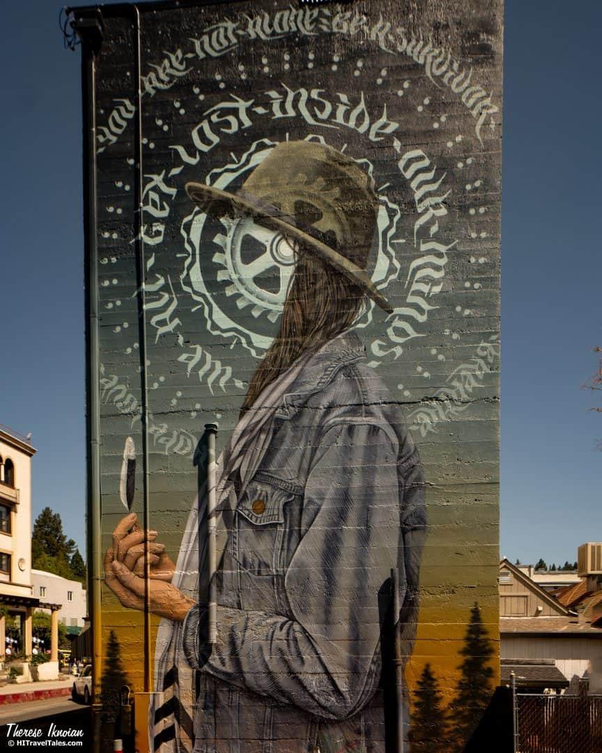 Grass Valley Street Art Mural Everhart