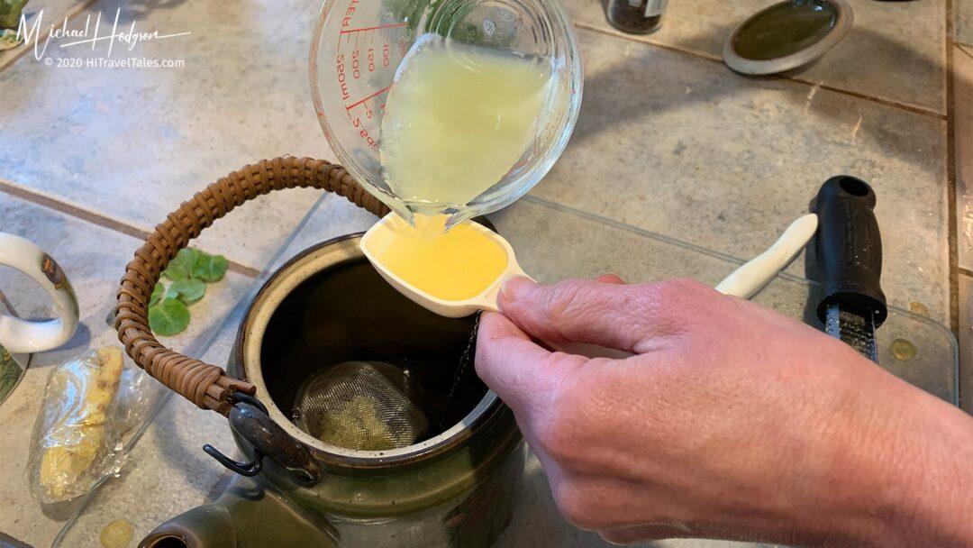 Ginger Tea Add Lemon Juice