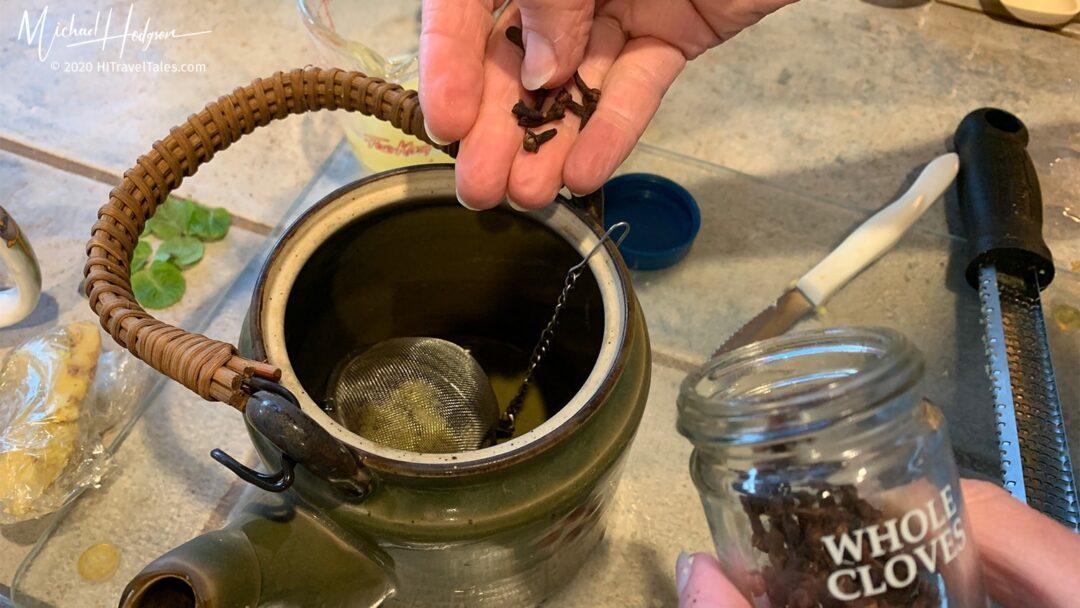 Ginger Tea Adding Cloves