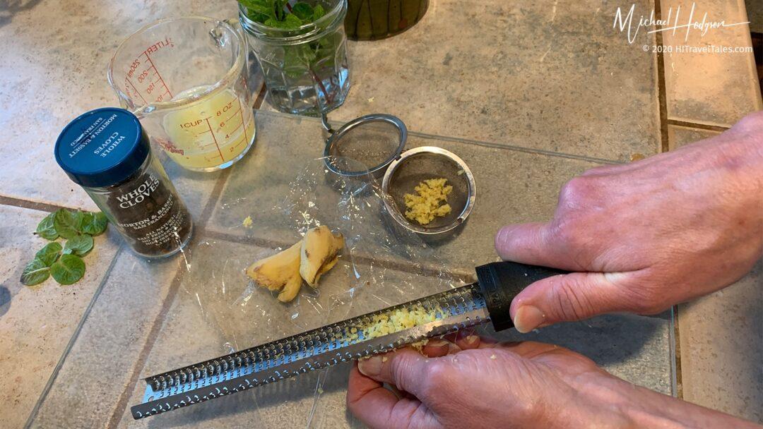 Ginger Tea Grating Ginger