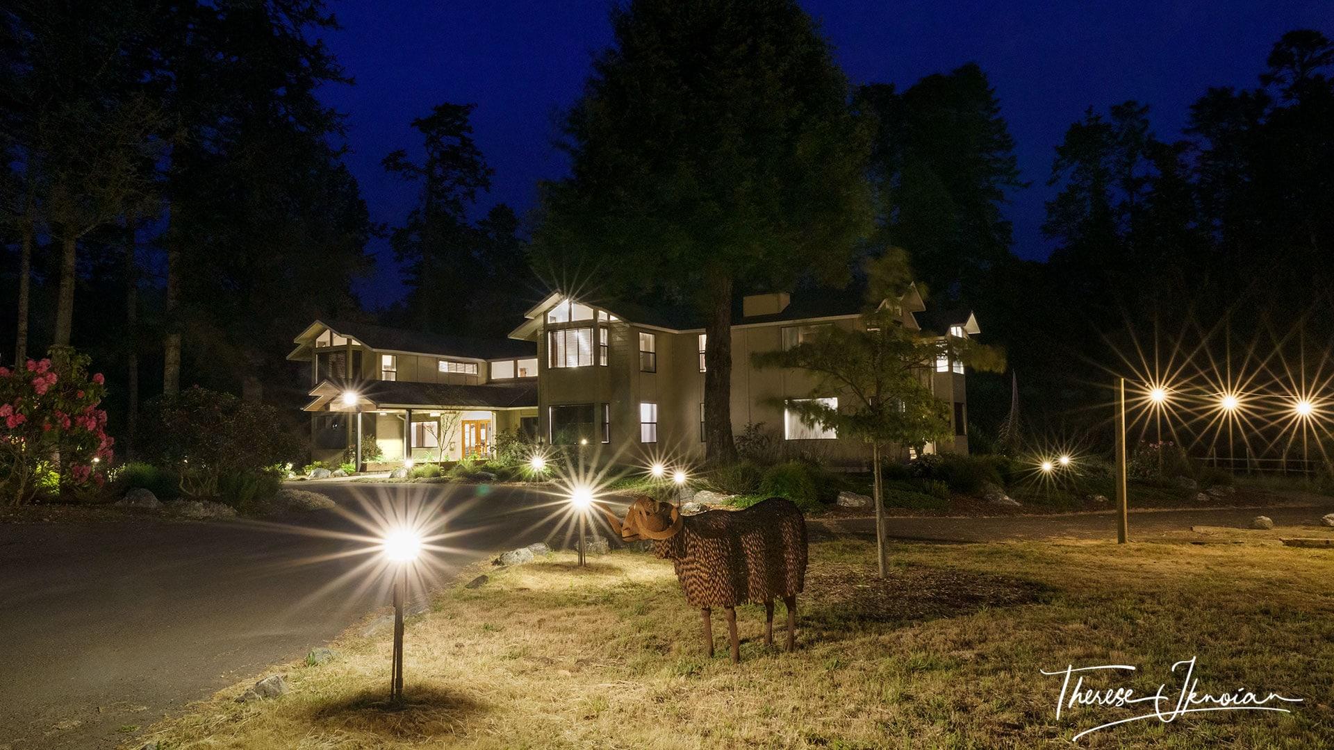 Glendeven Inn Mendocino Night