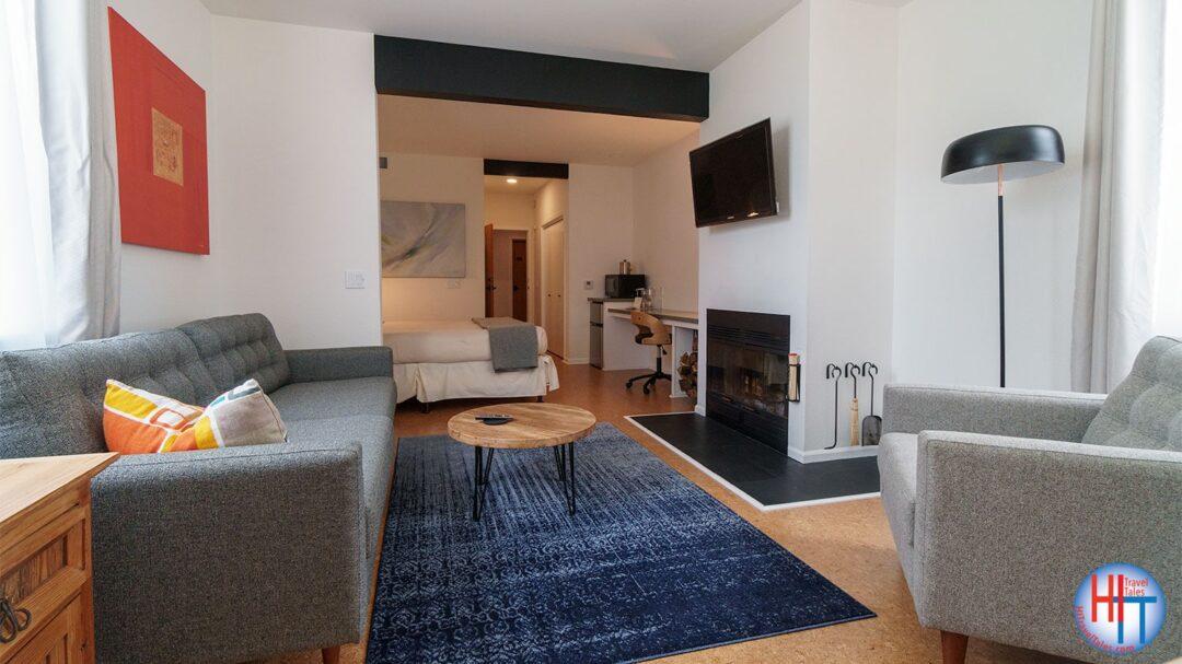Glendeven Lodge Mendocino Fireplace Room