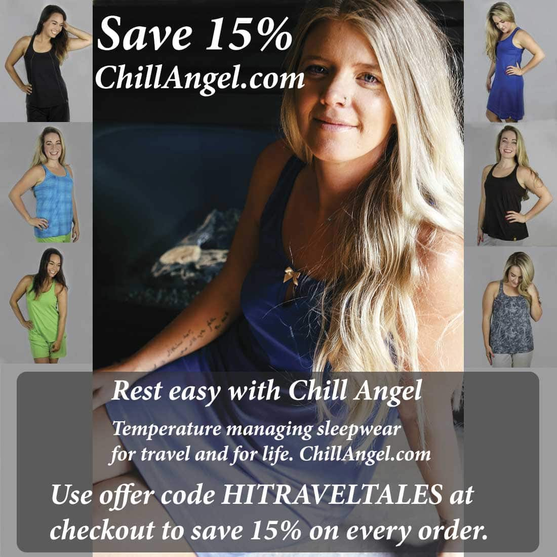 Chill Angel temperature managed sleepwear
