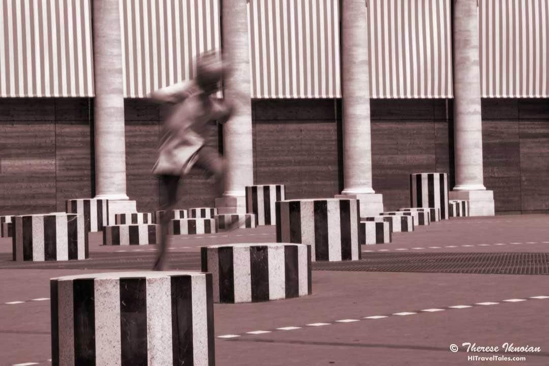 Boy Jumping Stripes award-winning photo