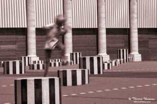 Boy Jumping Stripes award-winning photo
